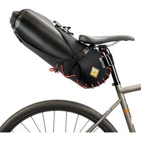 Restrap Big Saddlebag con Bolsa Seca 14L, negro/naranja